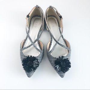 Black and White Plaid J.Crew pointy toe flats